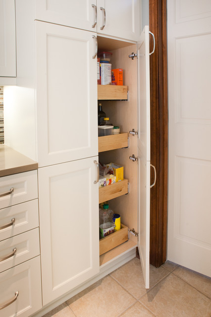 cabinet pantry 4 roll-out trays - Transitional - Kitchen - dallas - by Kitchen Design Concepts