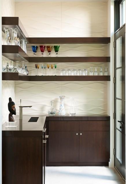 Bar Ideas Contemporary Home Bar Design With Semi Circle: By TATUM BROWN