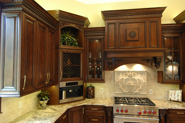 Carved Wood Highly Detailed Traditional Ornate Kitchen Traditional Kitchen Other Metro