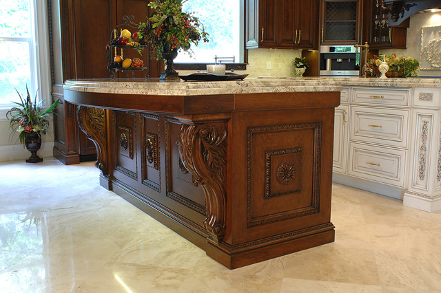 Carved Wood Highly Detailed Traditional Ornate Kitchen Traditional Kitchen Other By