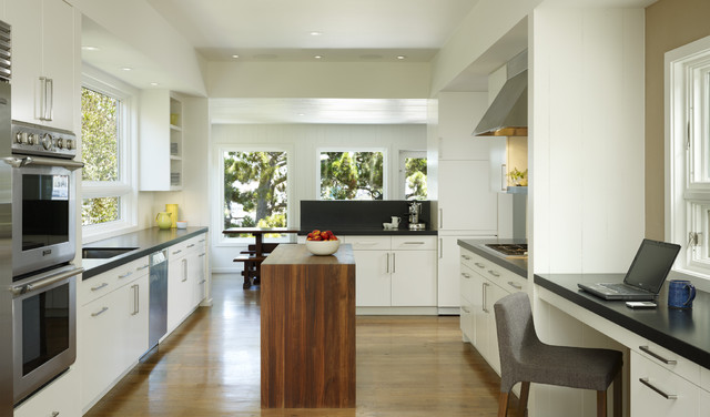 Cary Bernstein Architect Potrero Residence transitional-kitchen