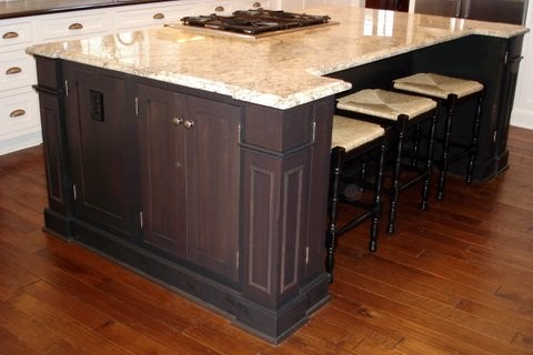 cary kitchen remodel - transitional, white and dark cabinetry traditional-kitchen