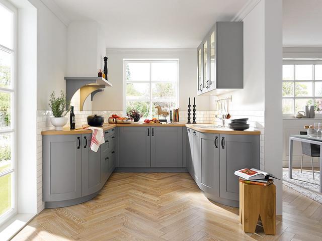 Schüller küchen landhausstil  Casa Agate Grey Silk Gloss Schüller Kitchen