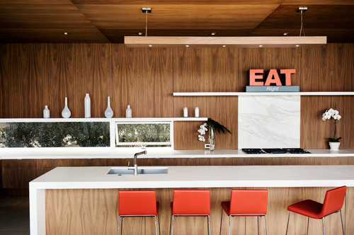 Modern White Kitchen Designs with Timber 1