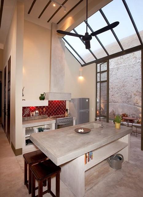 Casa La Cochera, Merida contemporary-kitchen