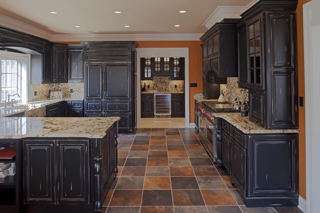 Inspiration For A Timeless U Shaped Multicolored Floor Kitchen Remodel In  DC Metro With Raised