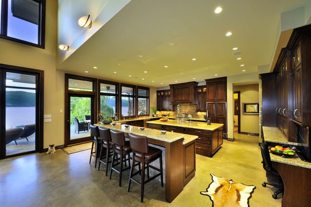 Example of a minimalist kitchen design in Vancouver