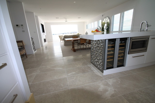 Cashmere Marble Flooring - Contemporary - Kitchen - Sydney - by Amber Tiles Australia