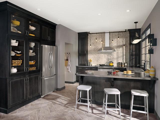Casoria Kitchen in Maple Smoke Finish - Modern - Kitchen ...