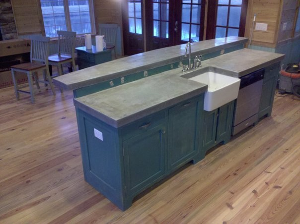 how to build cast in place concrete countertops