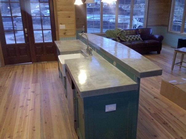 Cast N Place Concrete Countertops Kitchen Birmingham