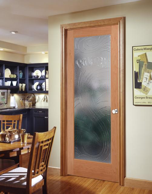 Cast Pantry Decorative Glass Interior Door Contemporary