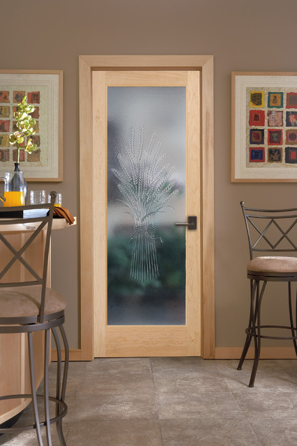 Cast Wheat Decorative Glass Interior Door Kitchen