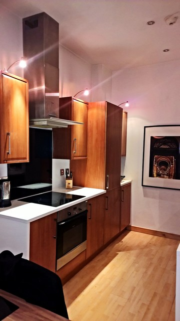 Castle chambers contemporary kitchen glasgow by for Urbn laminate flooring