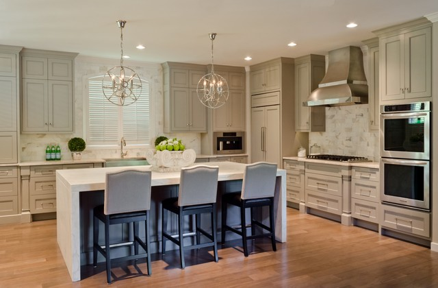 Castle Hills Kitchen, Breakfast, Pantry, and Laundry in San Antonio Texas contemporary-kitchen