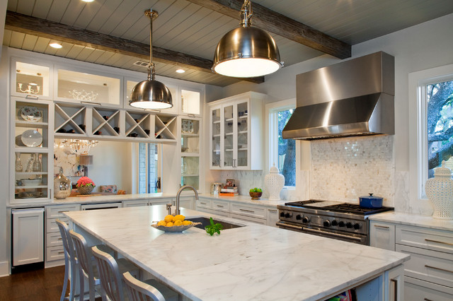 casual luxury contemporary kitchen austin by bravo interior design