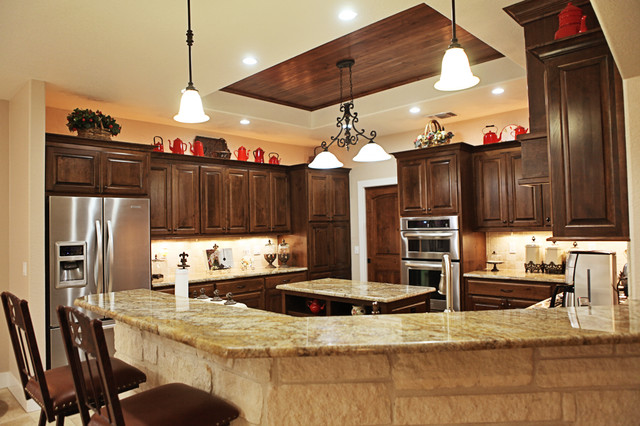 cater hill country ranch - traditional - kitchen - austin -