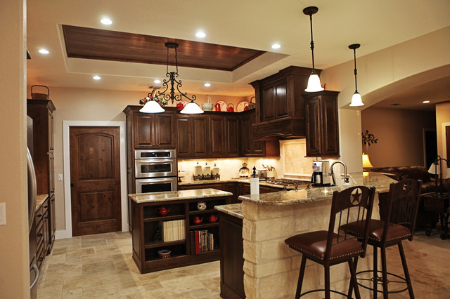 Cater hill country ranch traditional kitchen other for Custom built ranch homes