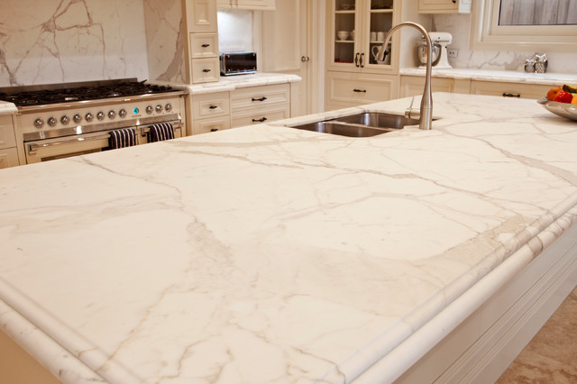 Caulfield South - Calacatta Natural Marble - Farmhouse - Kitchen - Melbourne - by Granite Planet