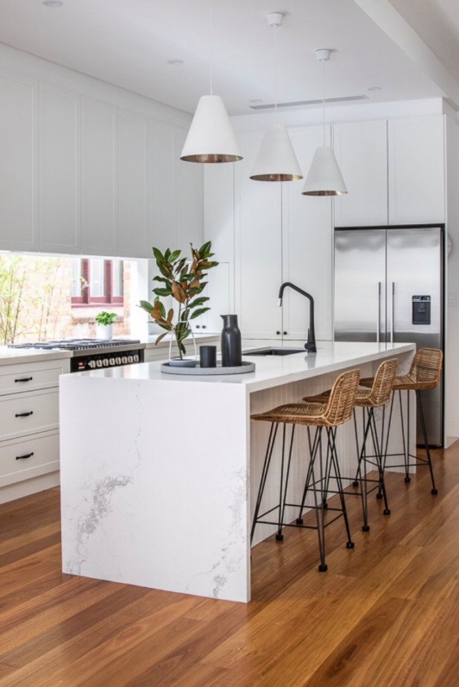 Cecil St Fairlight Transitional Kitchen Sydney By Tma Constructions