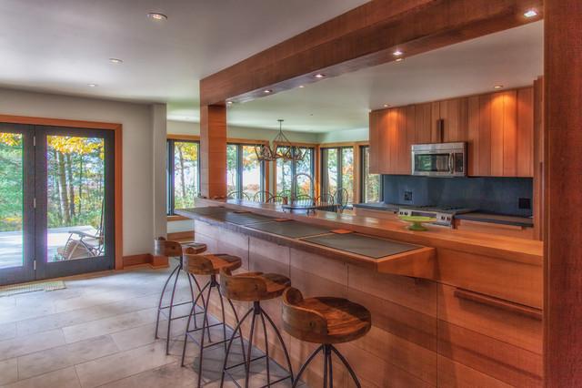 Cedar Kitchen Rustic Kitchen Toronto By Ed
