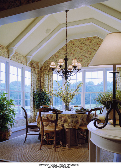 Ceiling Beam Corbels, Yellow Springs Morning Room traditional-dining-room
