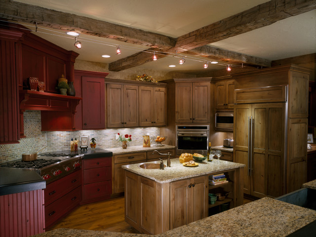 Rustic northeast kitchen traditional kitchen for Traditional rustic kitchen
