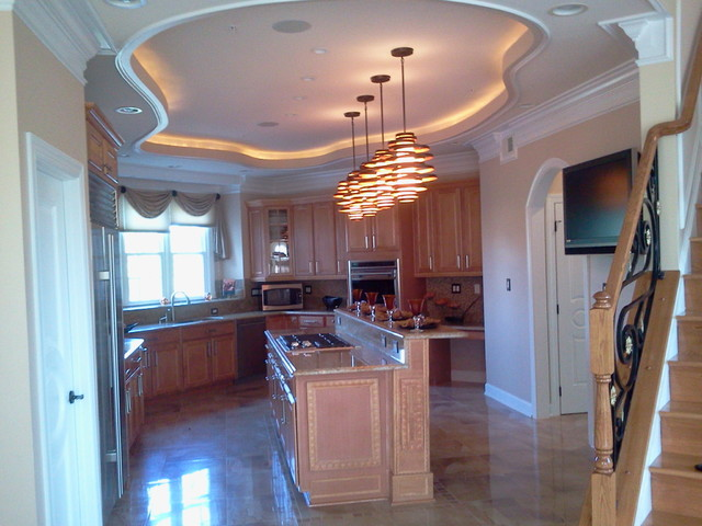 ceiling design and molding detail - contemporary - kitchen - dc