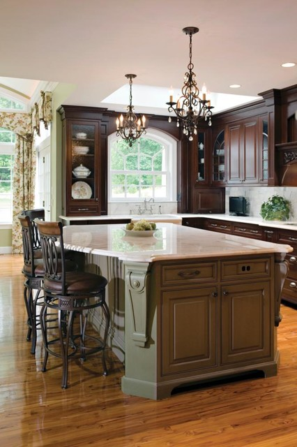 Ceiling lights traditional kitchen new york by we for Traditional kitchen light fixtures
