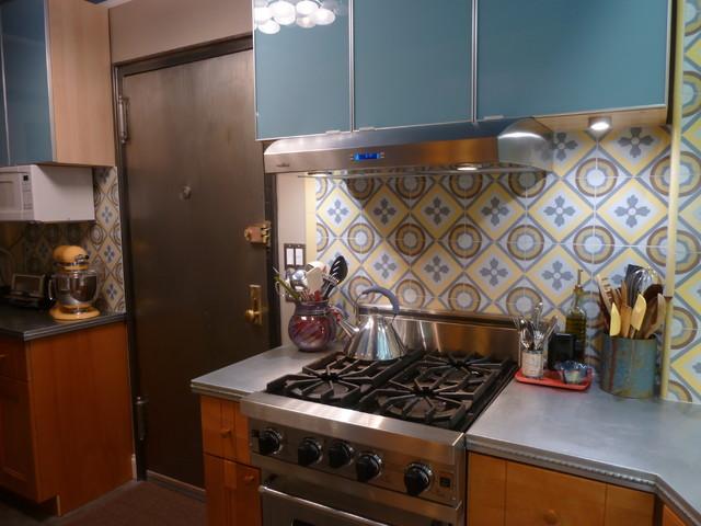Cement Tile Backsplash Makes A Chelsea Kitchen Remodel