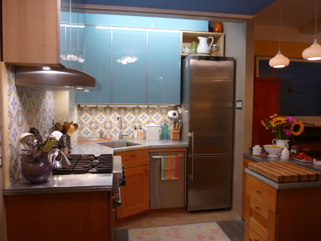Cement Tile Backsplash Makes a Chelsea Kitchen Remodel - Eclectic - Kitchen - new york - by ...