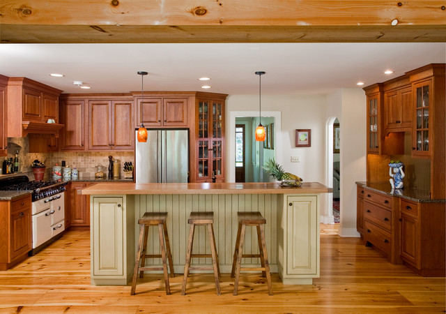 Center Valley Pine Floors Kitchen Island