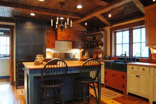 Kentucky Log Cabin Primitive Kitchen