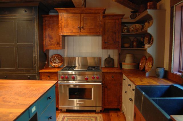 Central Kentucky Log Cabin Primitive Kitchen - Eclectic ...