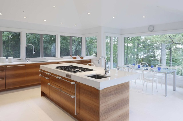 Centre Island House Contemporary White Kitchen contemporary-kitchen