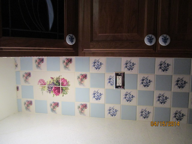 Ceramic Tile Decor Kiln Fired Made in Ohio U.S.A. eclectic-kitchen