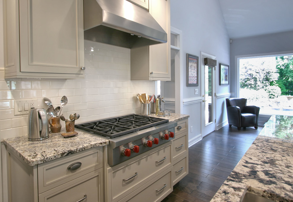 Cerused Oak & Painted Cabinets - Transitional - Kitchen ...