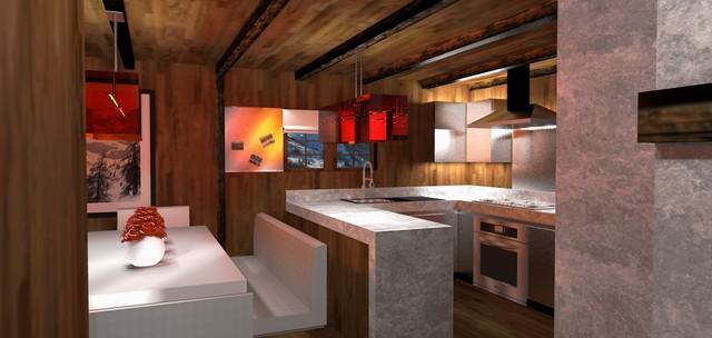 Chalet in Switzerland - Moderno - Cucina - Altro - di Malcolm ...