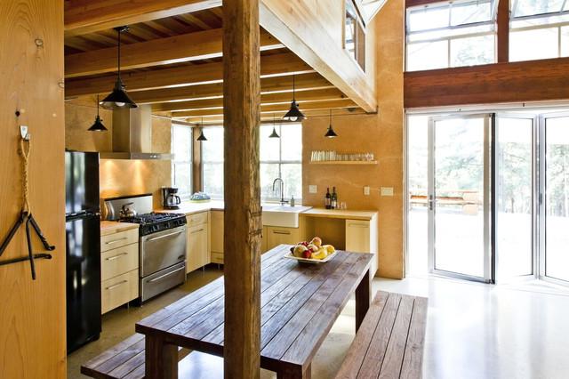 Chalk Hill Off Grid Cabin kitchen Rustic Kitchen