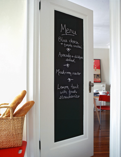 chalkboard door contemporary kitchen toronto by joanne tsakos. Black Bedroom Furniture Sets. Home Design Ideas