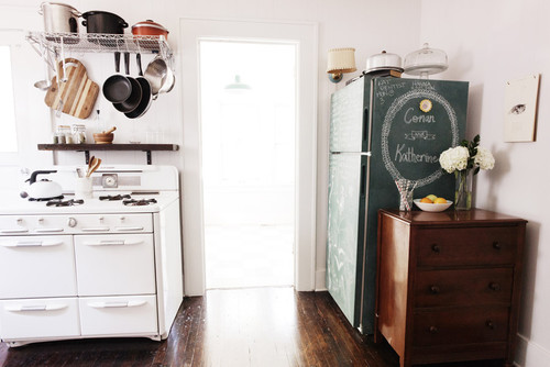 Chalkboard Fridge and Vintage Stove