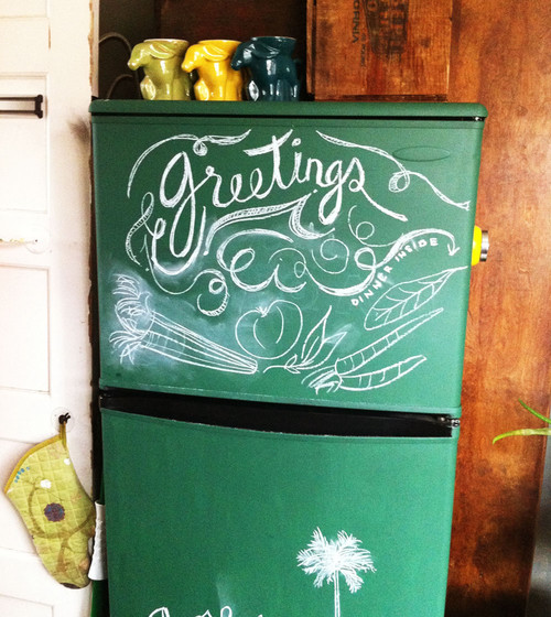 chalkboard refrigerator