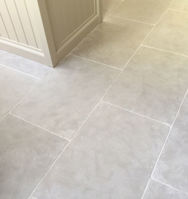 Paris Grey Limestone Kitchen Floor