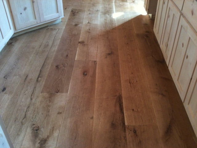 Character 10 Wide Plank White Oak Hardwood Flooring Rustic Kitchen