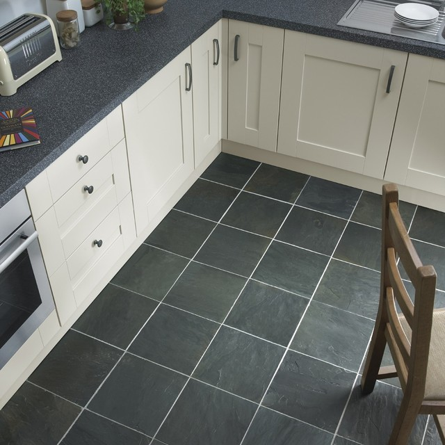 Kitchen Floor Tiles Modern: Charcoal Black Slate Tiles 300x300mm