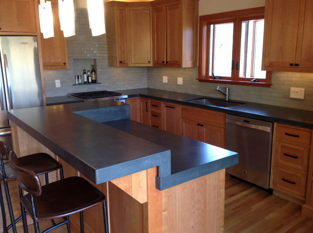 Concrete Countertops Craftsman Kitchen San Francisco By 5 Feet From The Moon