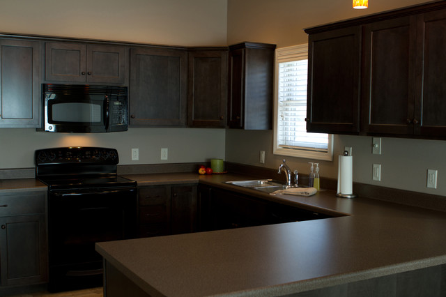 charcoal kitchen cabinets. Charcoal Stained Cabinets traditional kitchen  Traditional Kitchen Other by