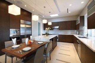 Kitchen Island Attached Table Ideas Photos