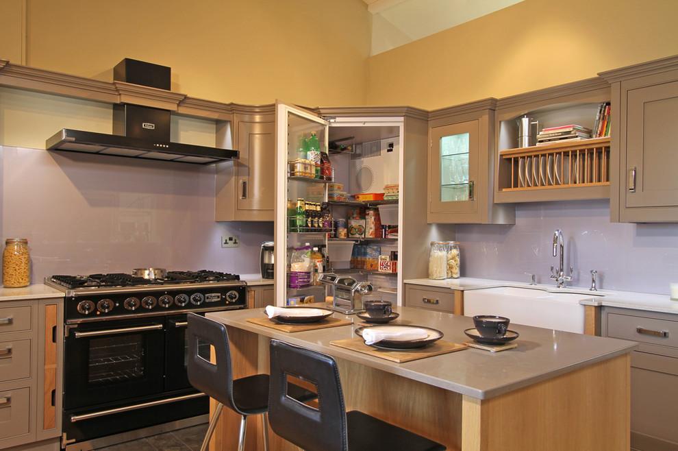 Charleston Grey Shaker Kitchen - Contemporary - Kitchen ...