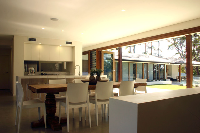 Charlesworth Bay House contemporary-kitchen